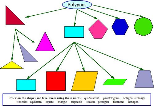 Polygons Names And Shapes And label polygons.